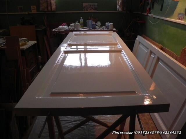 pintar puertas de madera pintores
